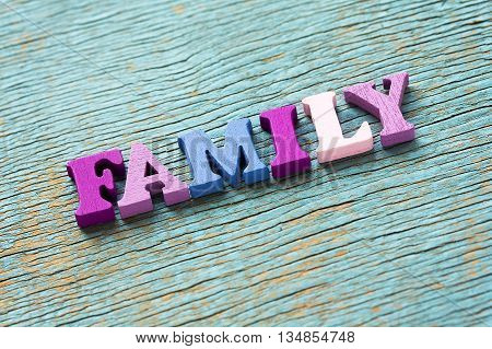 Word Family On Vintage Wooden Background
