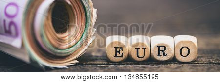 Money Role With Word Euro