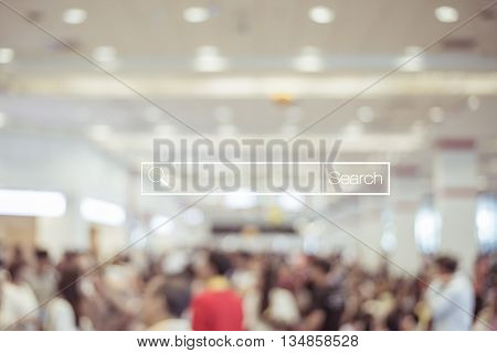 Blur store and bokeh light with address bar online shopping background business E-commerce