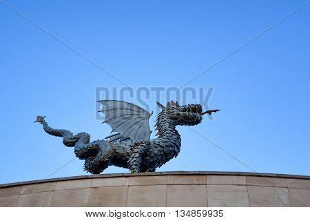 Sculpture of dragon Zilant, the symbol of Kazan