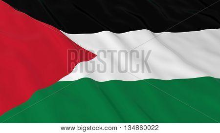 Palestinian Flag Hd Background - Flag Of Palestine 3D Illustration