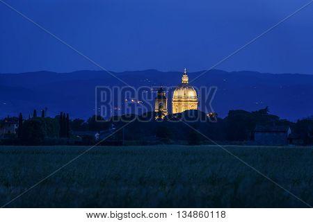 Illuminated Basilica Di Santa Maria Degli Angeli