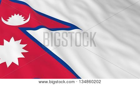 Nepalese Flag Hd Background - Flag Of Nepal 3D Illustration