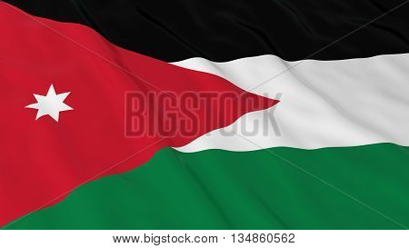 Jordanian Flag Hd Background - Flag Of Jordan 3D Illustration