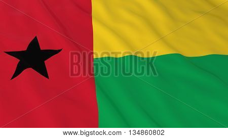 Bissau-guinean Flag Hd Background - Flag Of Guinea-bissau 3D Illustration