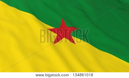 French Guianese Flag Hd Background - Flag Of French Guiana 3D Illustration