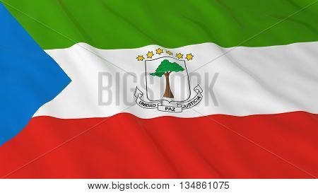 Equatorial Guinean Flag Hd Background - Flag Of Equatorial Guinea 3D Illustration