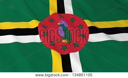 Dominican Flag Hd Background - Flag Of Dominica 3D Illustration