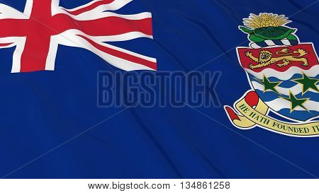 Caymanian Flag Hd Background - Flag Of The Cayman Islands 3D Illustration