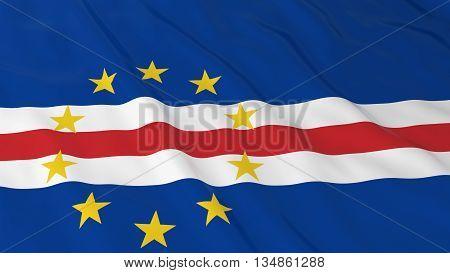 Cabo Verdean Flag Hd Background - Flag Of Cape Verde 3D Illustration