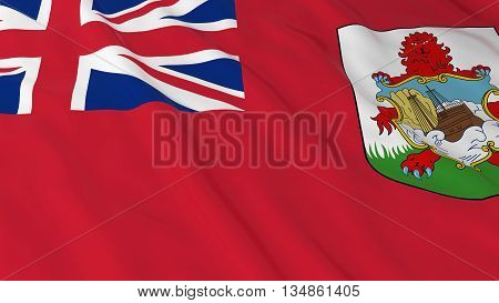 Bermudan Flag Hd Background - Flag Of Bermuda 3D Illustration