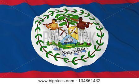 Belizean Flag Hd Background - Flag Of Belize 3D Illustration