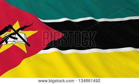 Mozambican Flag Hd Background - Flag Of Mozambique 3D Illustration
