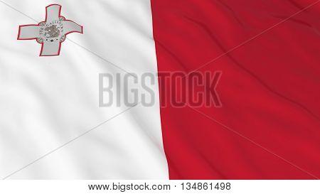Maltese Flag Hd Background - Flag Of Malta 3D Illustration