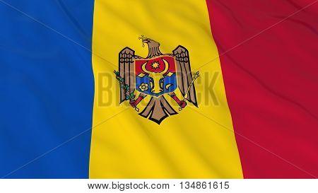 Moldovan Flag Hd Background - Flag Of Moldova 3D Illustration