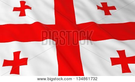 Georgian Flag Hd Background - Flag Of Georgia 3D Illustration