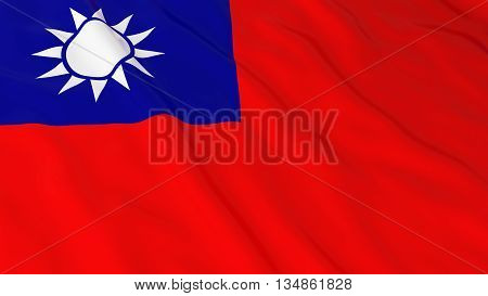 Taiwanese Flag Hd Background - Flag Of Taiwan 3D Illustration