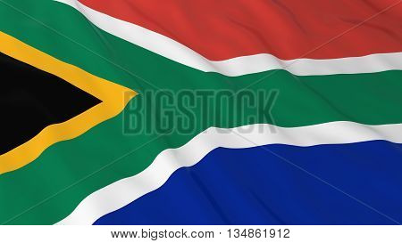 South African Flag Hd Background - Flag Of South Africa 3D Illustration