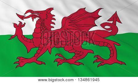 Welsh Flag Hd Background - Flag Of Wales 3D Illustration