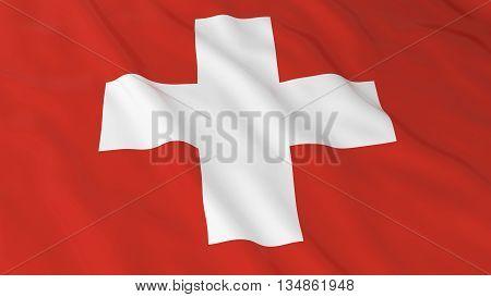Swiss Flag Hd Background - Flag Of Switzerland 3D Illustration