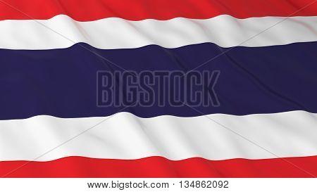 Thai Flag Hd Background - Flag Of Thailand 3D Illustration