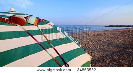Umbrellas On The Sand With A Custom Bra