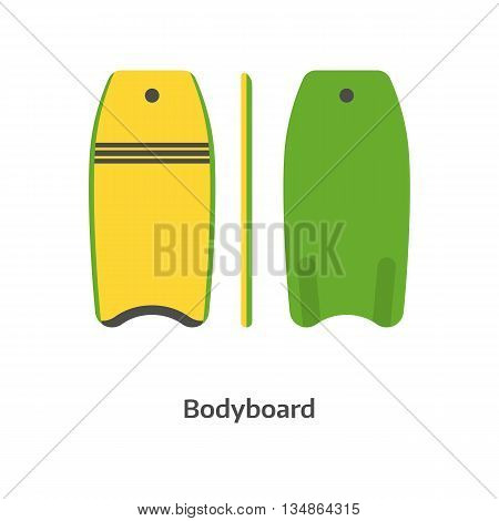 Body Board Vector Illustration