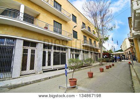 NICOSIA CYPRUS, NOVEMBER 27 2015: Ledras street at Nicosia/Lefkosia Cyprus. Editorial use.