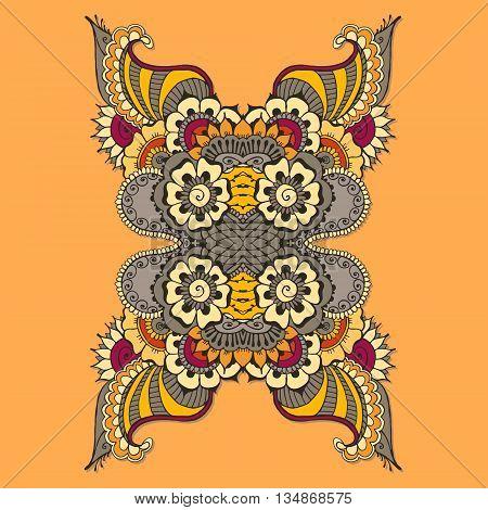 Mehndy Flowers Card
