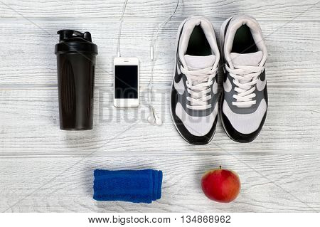 Sports And Fitness Background For Man