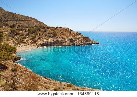 Benidorm Cala tio Ximo beach in Alicante Mediterranean of Spain