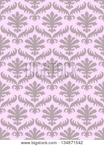 colorful damask seamless floral pattern background. Color trend blush. Elegant luxury texture for   backgrounds and page fill