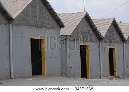 Empty depots at the suburban area of Ankara