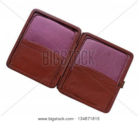Outdoor vintage purse made of genuine leather