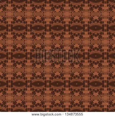Abstract geometric seamless plain background. Ornate and extensive diamond pattern brown shades, quiet color.