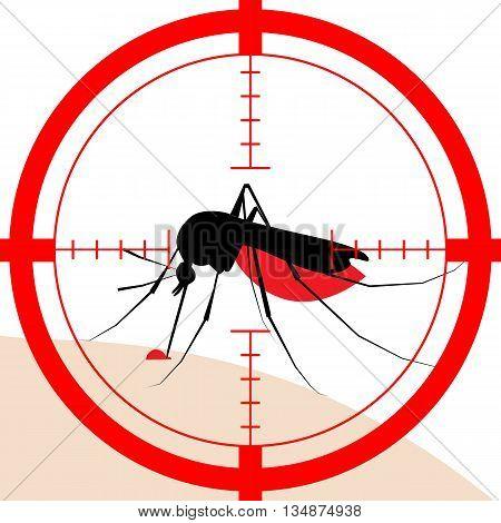 Target On Mosquito Bite
