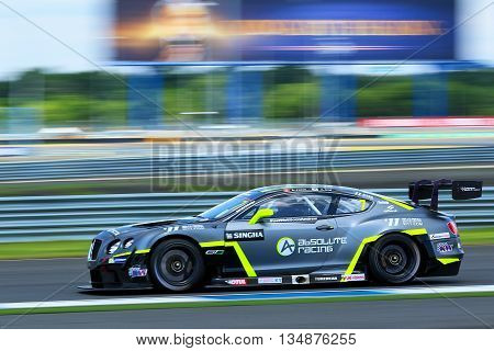 BuriramThailand - June 12 2016: Buriram festival of speed GT ASIA / TCR ASIA series 2016 took place at the Chang International Circuit in Buriram Thailand on June 10-12 2016.