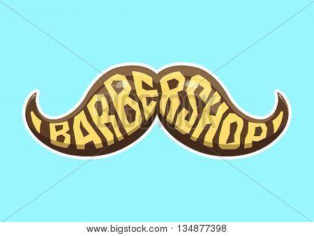 Barbershop logo. Hairdresser logo. Cartoon vector illustration