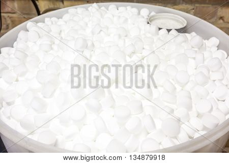 an barrel of salt blocks for the softener