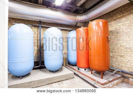 in the basement there are five major expansion boilers