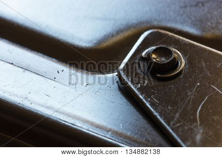Very Close Photographed Part Of The Staple Gun.