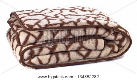 woolen blanket isolated on a white background