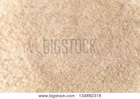 close up of new beige woolen blanket
