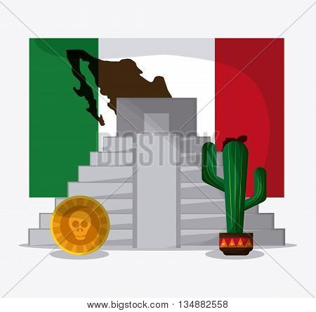 Mexico concept with icon design, vector illustration 10 eps graphic.