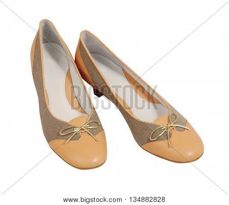yellow shoes isolated on white background