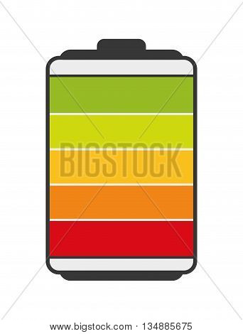Energy concept represented by battery  icon over flat and isolated background