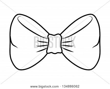 Part of suit concept represented by Bowtie  icon over flat and isolated background