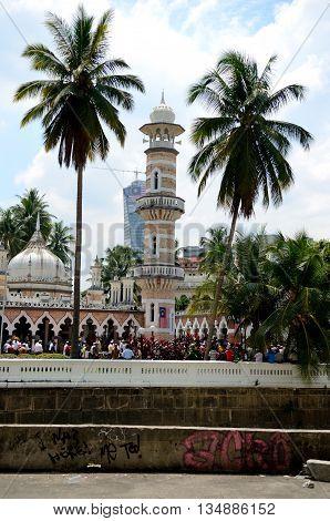 Kuala Lumpur/Malaysia - September 2012: Jamek Mosque in Kuala Lumpur, Malaysia.