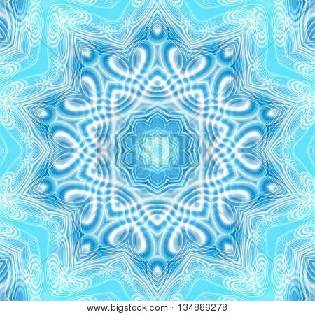 Abstract blue background with concentric ripples pattern