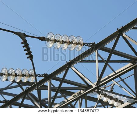 Electric Cables In Aluminum Of High Voltage To Transport The Electrical Energy